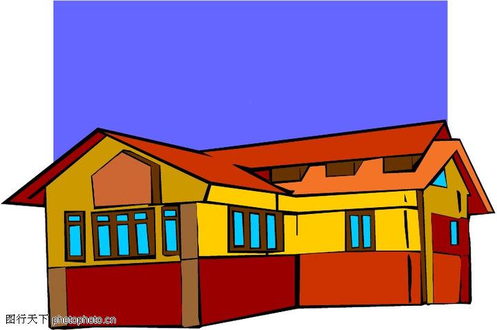 卡通建筑,名胜地理,卡通建筑0569
