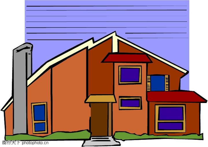 卡通建筑,名胜地理,卡通建筑0580
