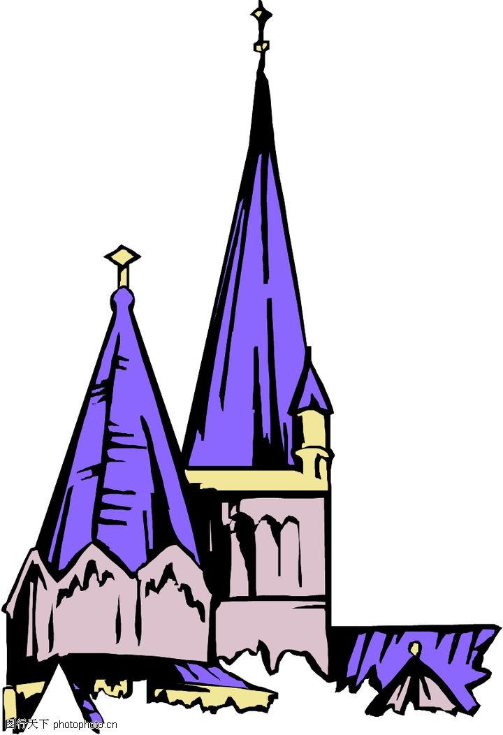卡通建筑,名胜地理,卡通建筑0612