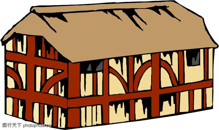卡通建筑,名胜地理,卡通建筑0620