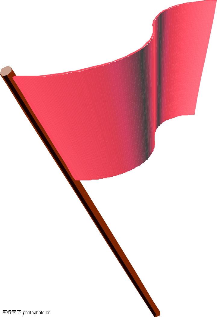 古代旗帜素材-旗子