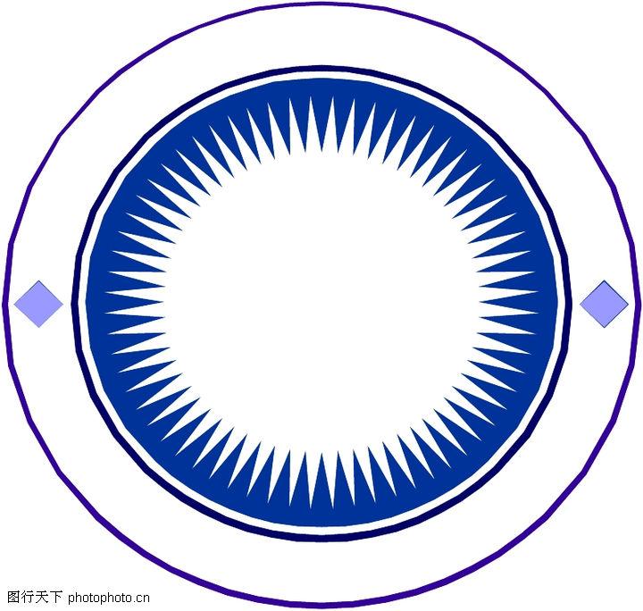 圆形形图案,微章图案,圆形形图案0292