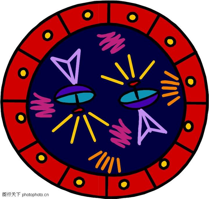 圆形形图案,微章图案,圆形形图案0319