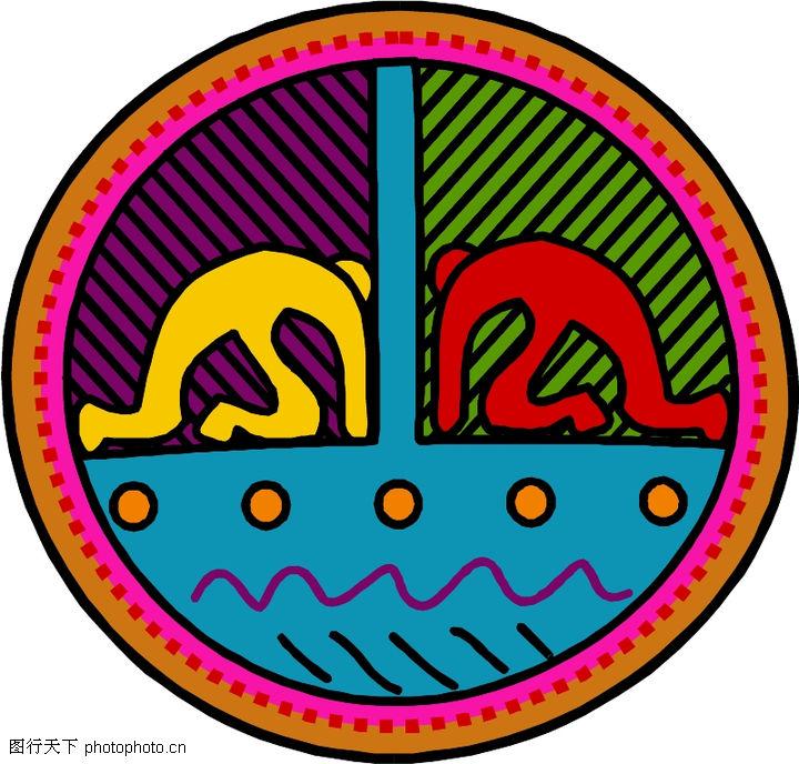 圆形形图案,微章图案,圆形形图案0323