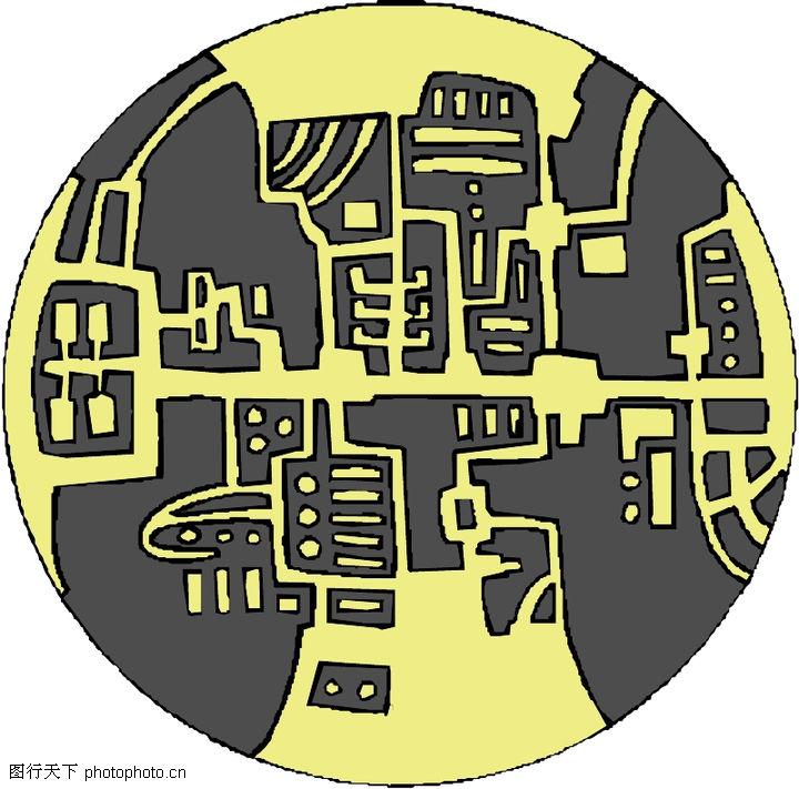圆形形图案,微章图案,圆形形图案0333