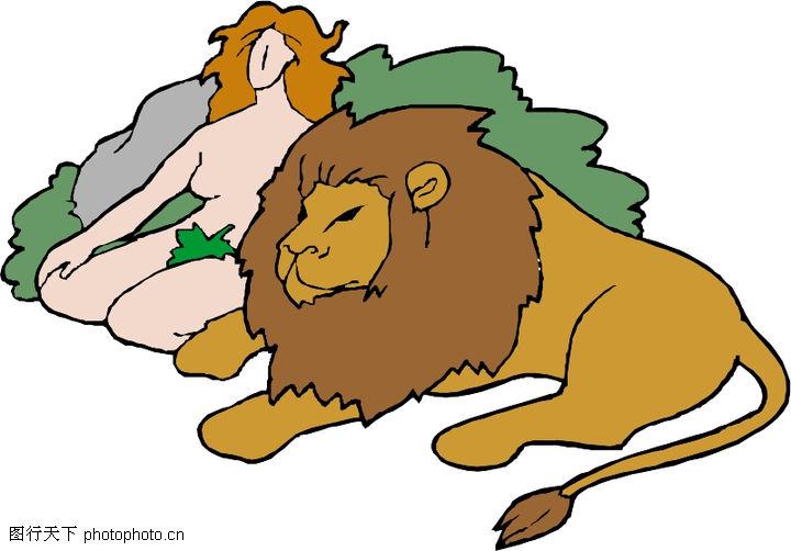 动物拟人化卡通0002 动物拟人化卡通图 拟人卡通图库 老虎