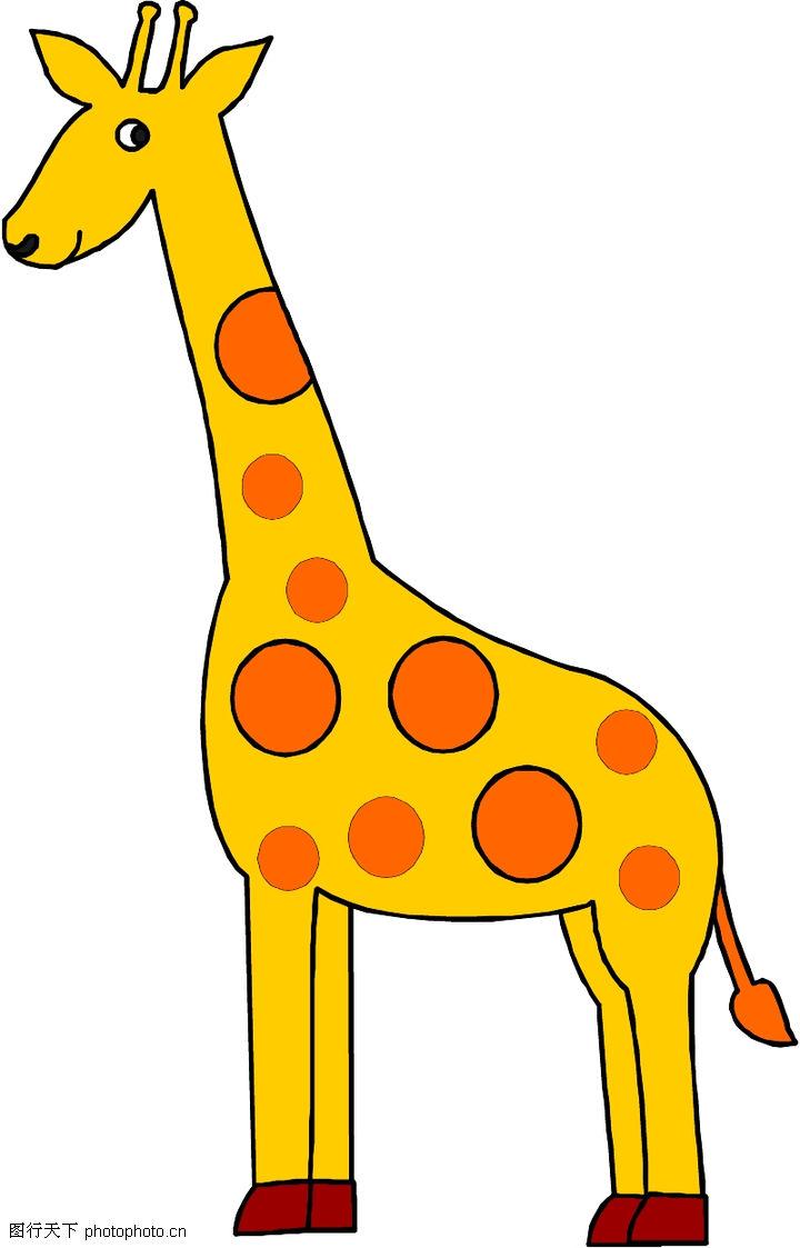 动物拟人化卡通,拟人卡通,长颈鹿,动物拟人化卡通0007