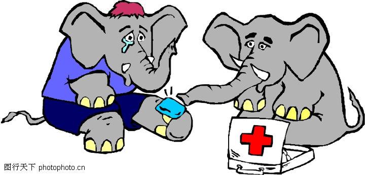 动物拟人化卡通,拟人卡通,医生 看病,动物拟人化卡通0064
