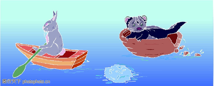 动物拟人化卡通,拟人卡通,动物拟人化卡通0136