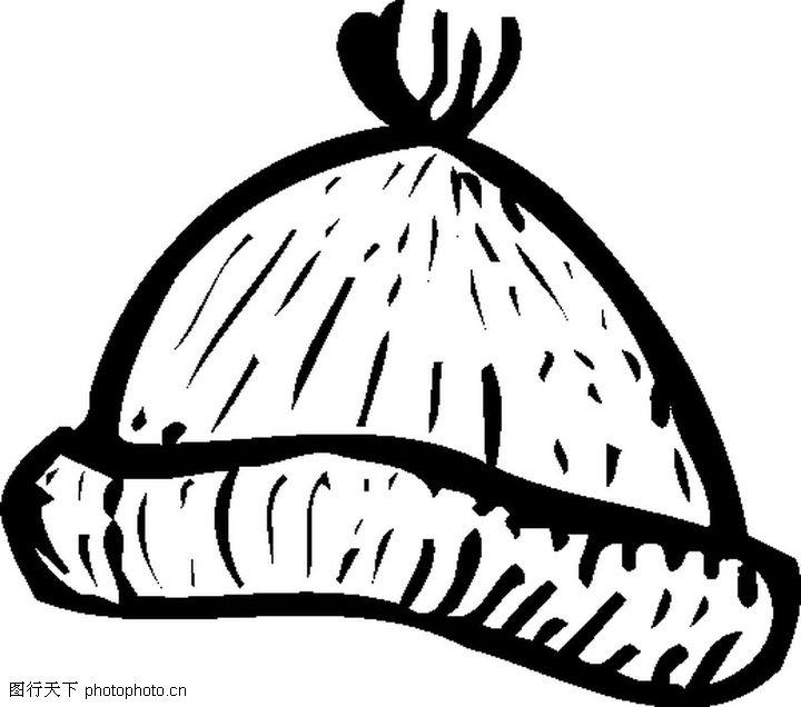 冬天帽子简笔画图片; 服装饰物; 帽子简笔画   帽子   儿童简笔画图片