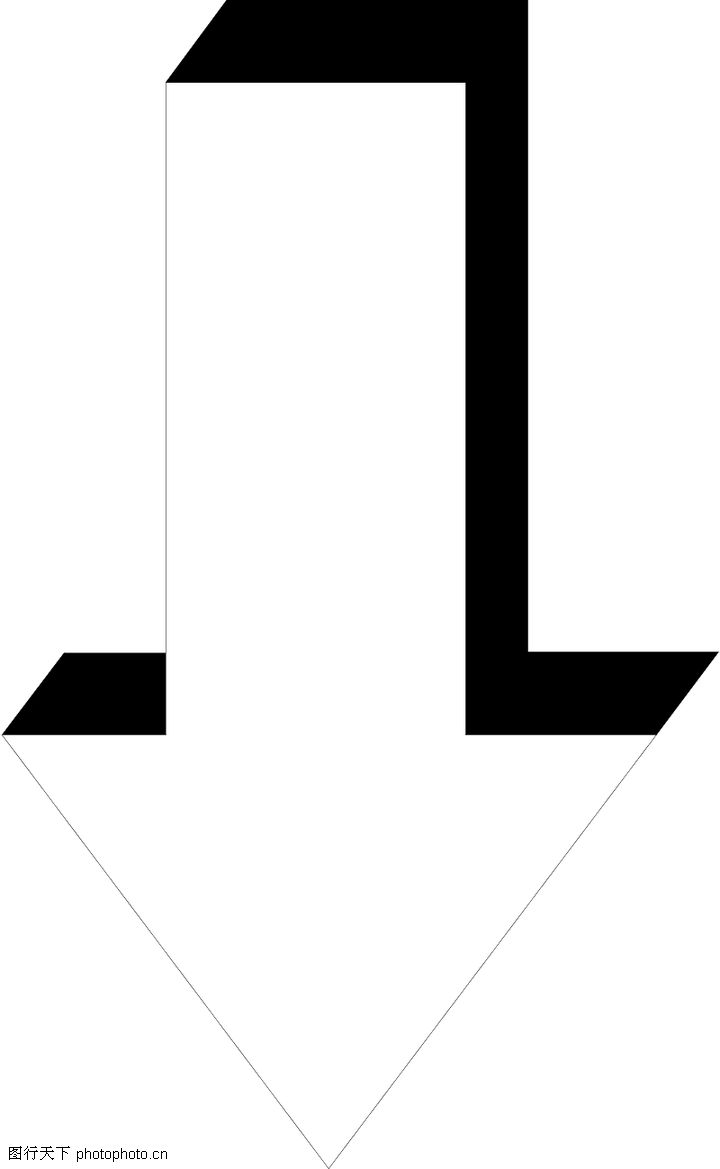 直线箭头0303 直线箭头图 标识符号图库