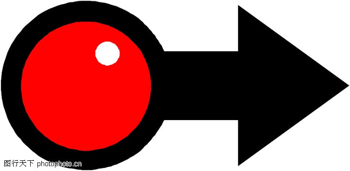 直线箭头0395 直线箭头图 标识符号图库