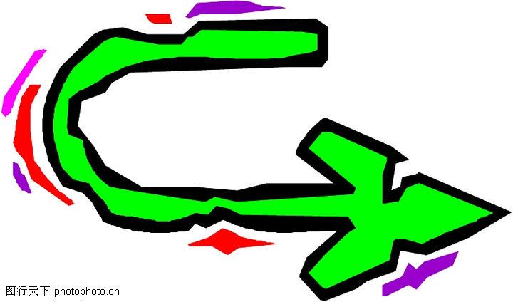 卡通向右可爱箭头手绘