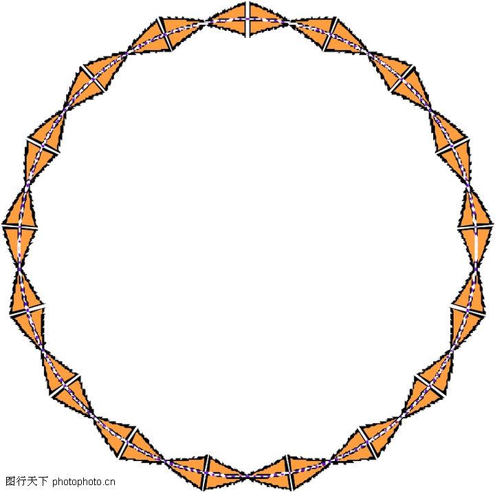 圈圈 边框背景 圆形装饰框