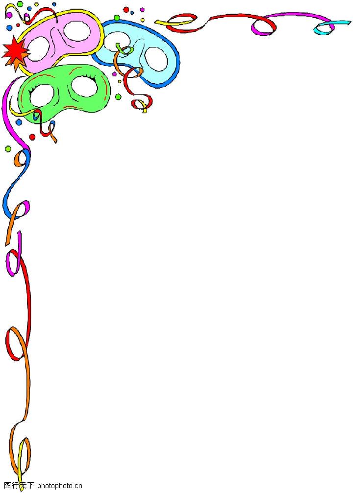 背景 装饰-季节装饰0169; 幼儿园装饰边框相框图片下载分享;