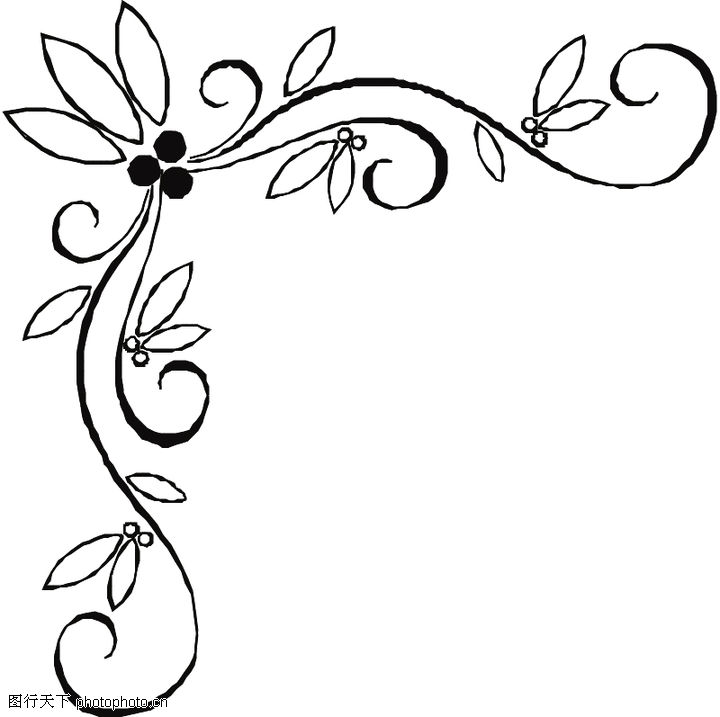 藤蔓花边边框 长藤蔓边框简笔画 卡通藤蔓边框