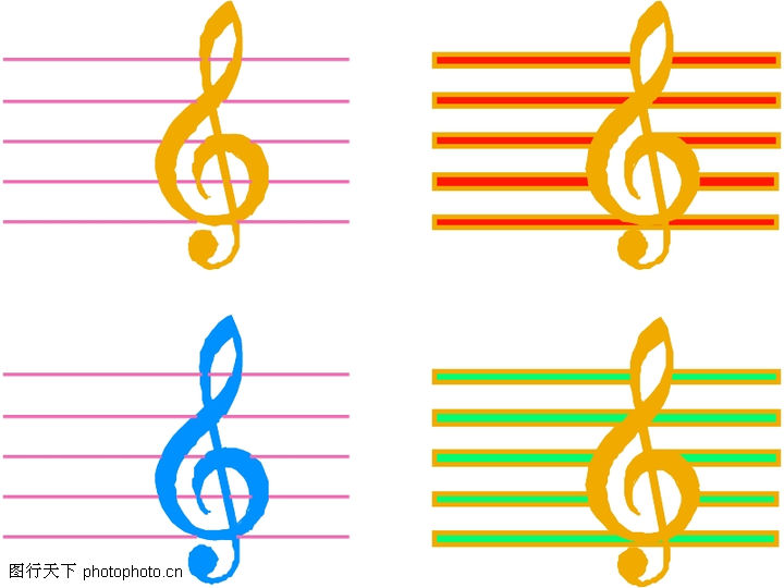 五线谱音符图片大全,五线谱音符符号大全,五线谱简谱对照表大图
