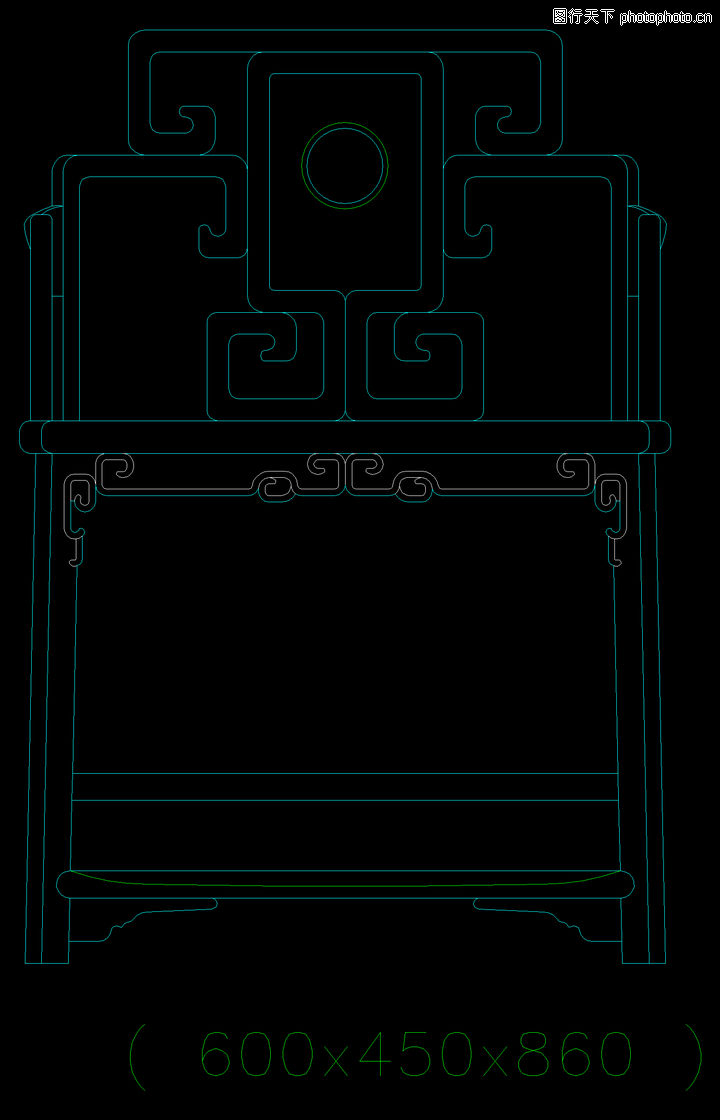 中式家具图块,家具,中式家具图块0009