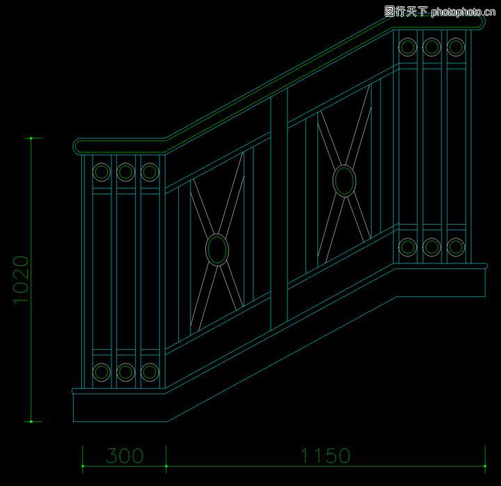 铁艺楼梯,栏杆楼梯,铁艺楼梯0012