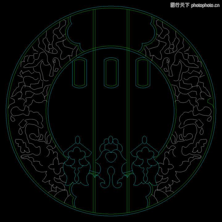 门饰,门,门饰0028