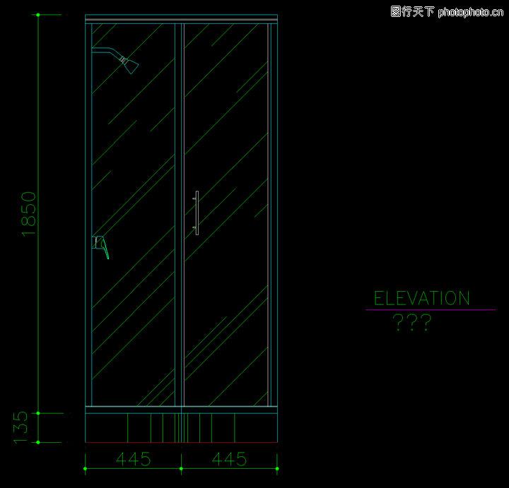 洁具图块,卫生间阳台,洁具图块0076