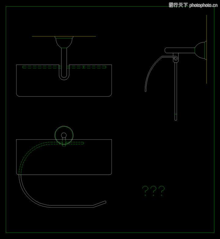 洁具图块,卫生间阳台,洁具图块0089
