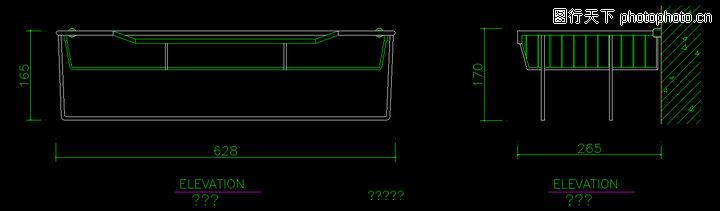 洁具图块,卫生间阳台,洁具图块0108