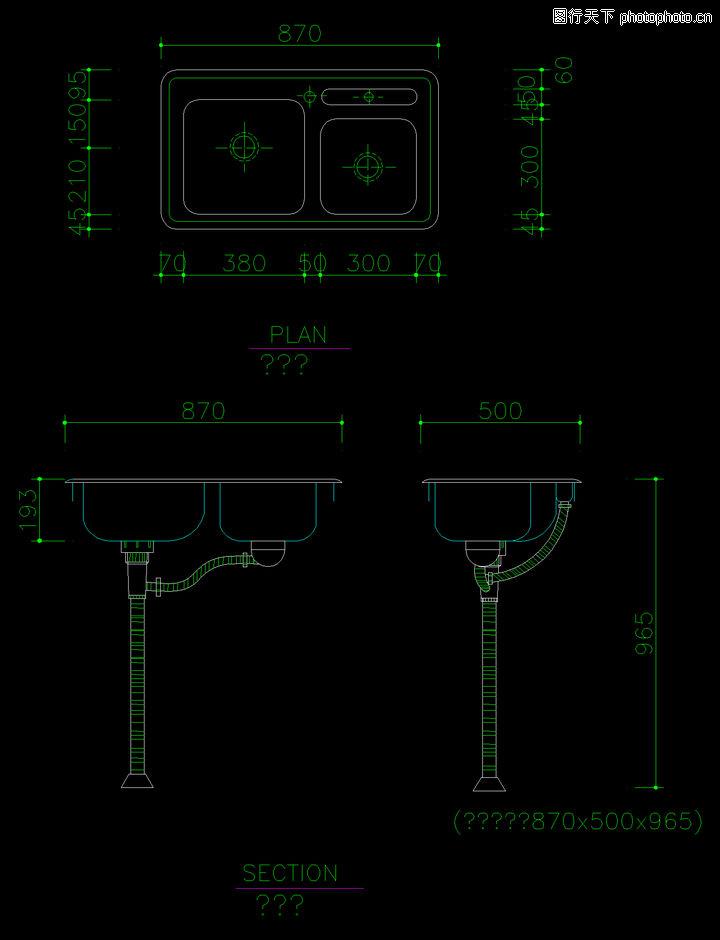 水槽图块,厨房,水槽图块0006