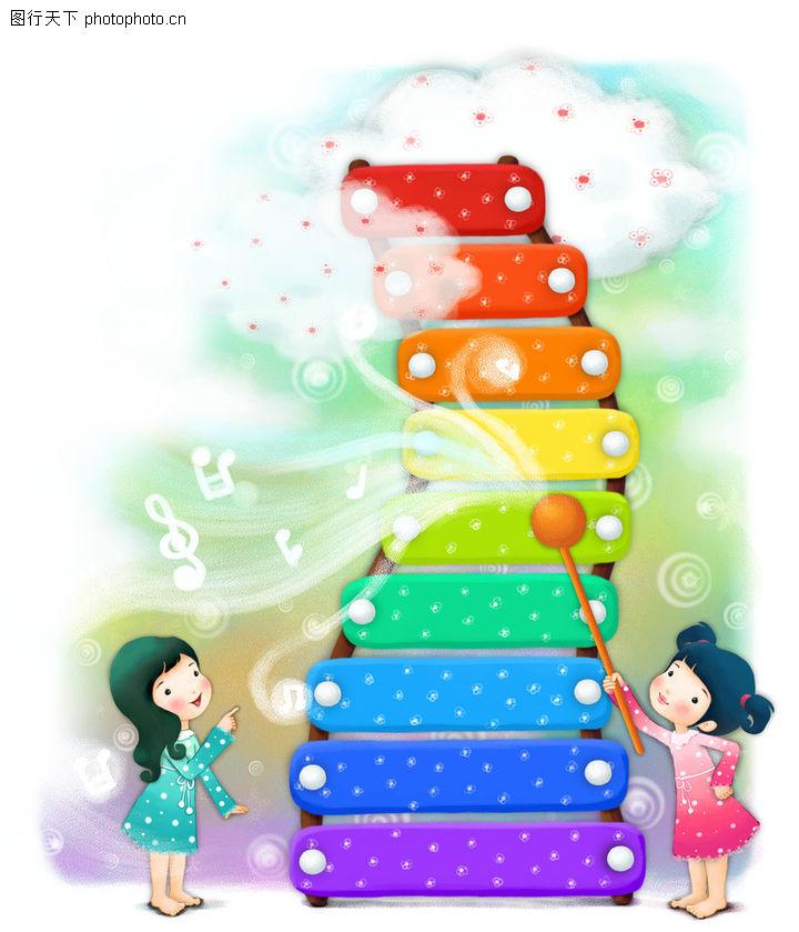 可爱小仙子,彩绘人物情景模板,彩色 登天 楼梯,可爱小仙子0097