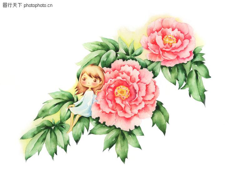 花仙子情景简笔画