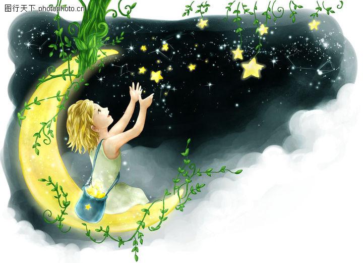 细看星空水粉画