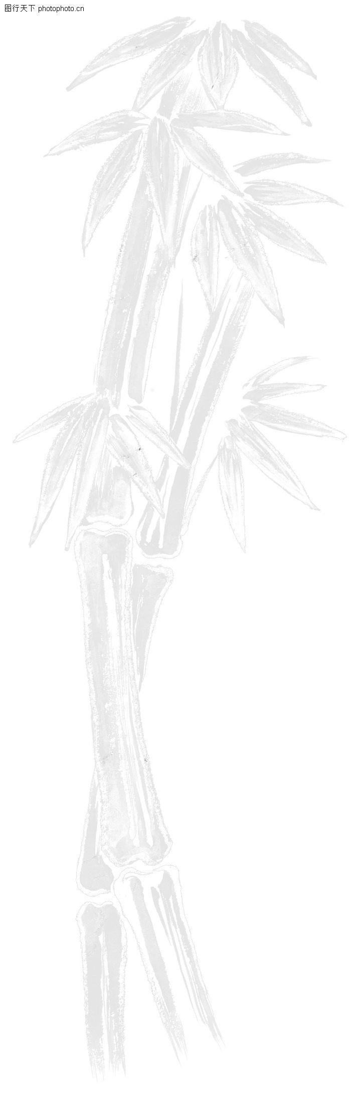 彩绘物件,花纹边框,脆竹 竹子 竹叶,彩绘物件0042