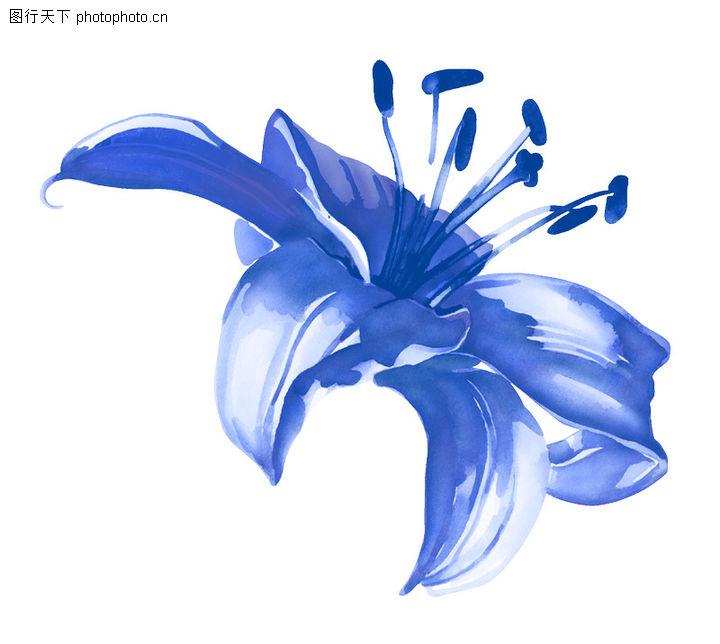 深蓝色花纹背景