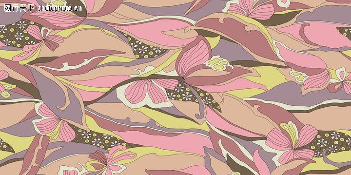 时尚纹理,花纹边框,满地 花叶 散落,时尚纹理0051
