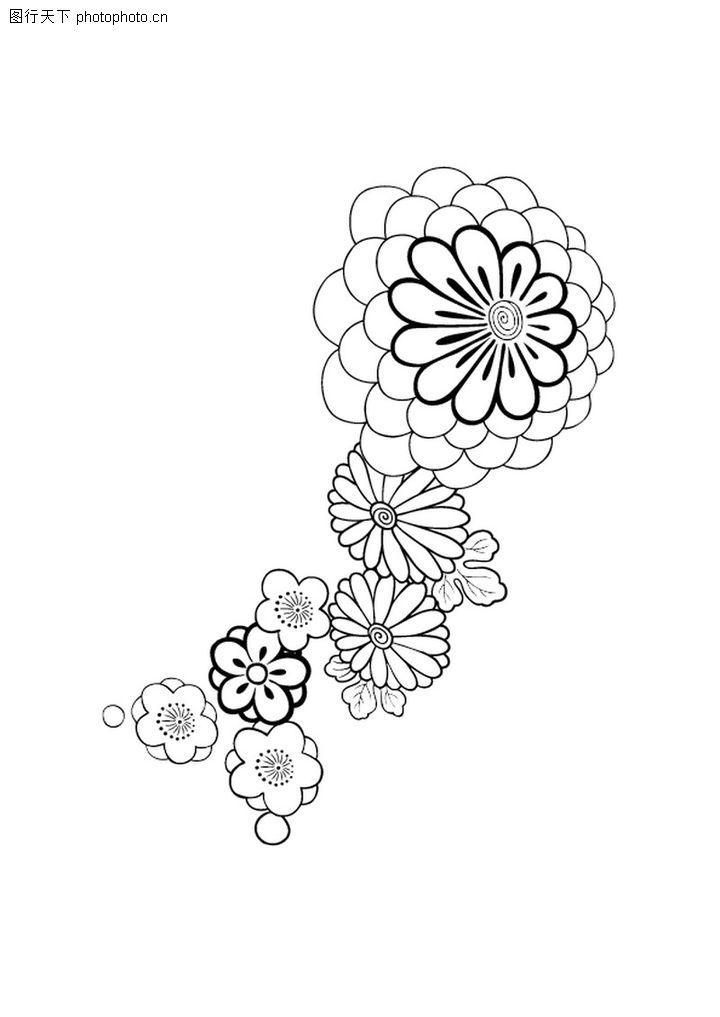 饰角素材,花纹边框,花蕊 素笔 浅画,饰角素材0062