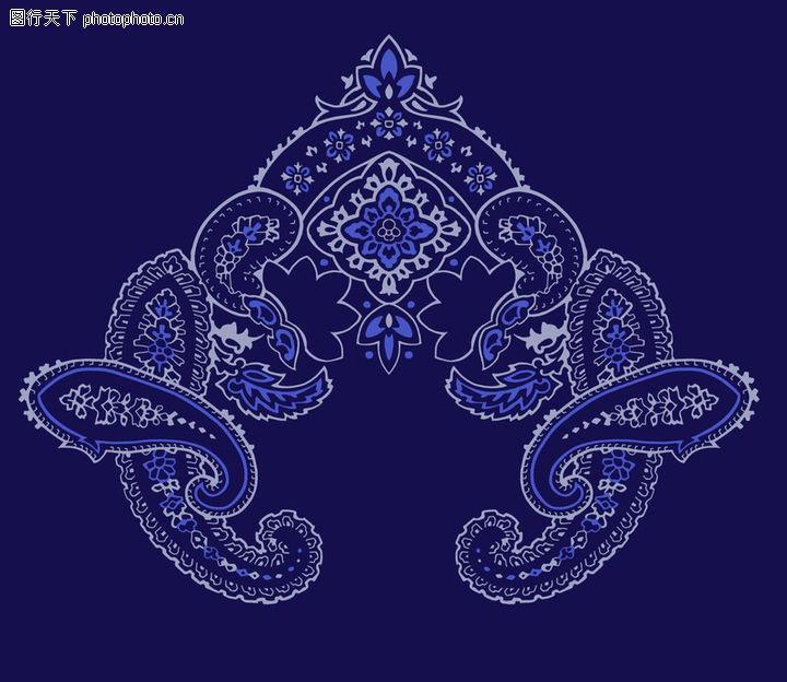 饰角素材,花纹边框,深蓝 底纹 饰角,饰角素材0189
