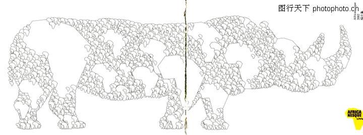依沙.卡尔,世界设计大师,四肢 构成 黑白,依沙.卡尔0047