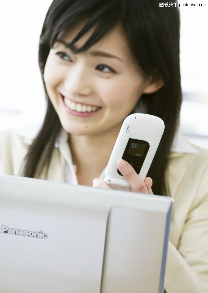 快乐工作0121-快乐工作图-人物图库-电话 手