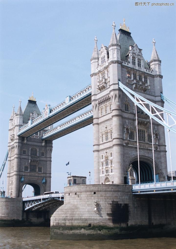 伦敦柏林历史风景; 高清欧洲风光图片; 高大伦敦塔桥建筑摄影
