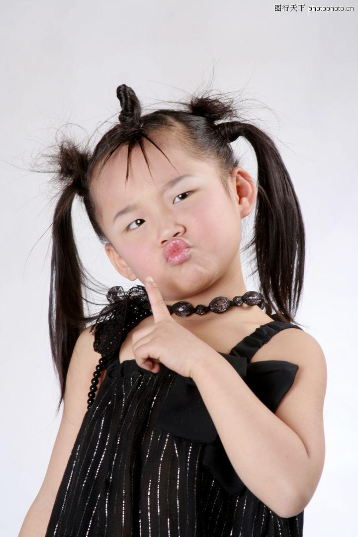 可爱造型,亲子教育,撅嘴 头顶 尖辫,可爱造型0008