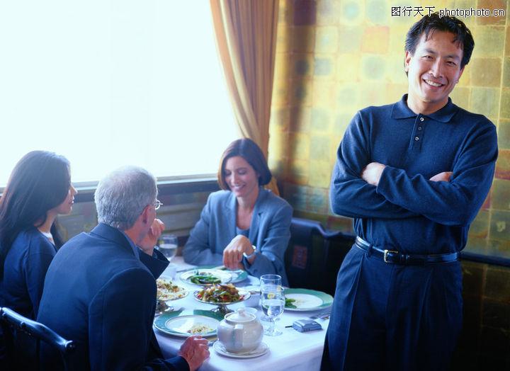 会议,商业情景,用餐 餐具 笑容 开心 招呼,会议0006