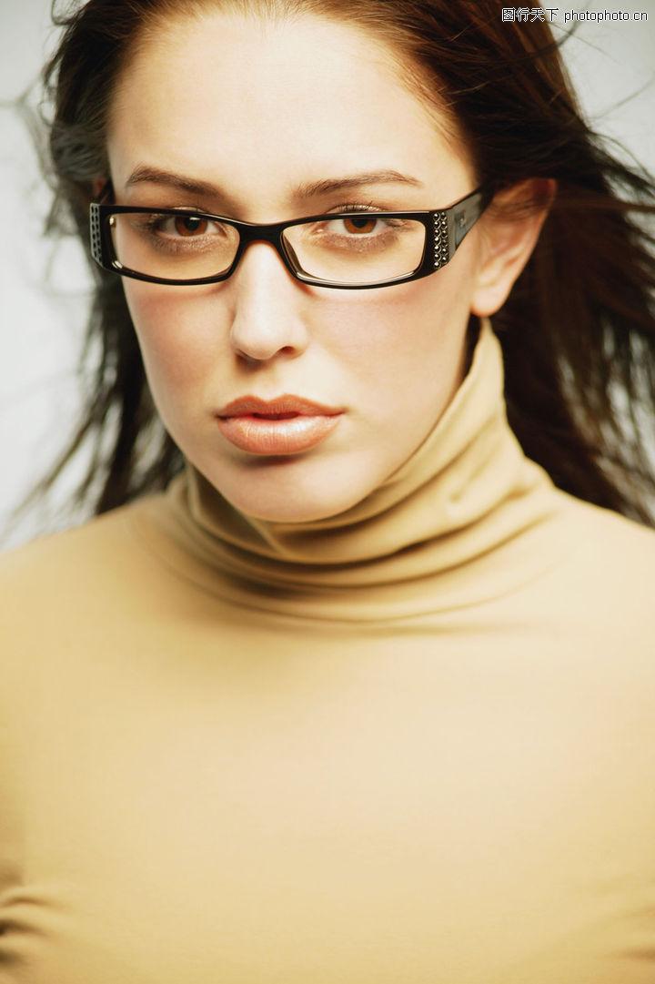 商业女性,商业情景,职场女性 黑框眼镜 厚嘴唇,商业女性0053