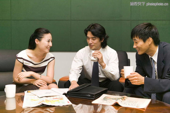 业对话图 商业情景图库 喝茶 文件 商业对话图片