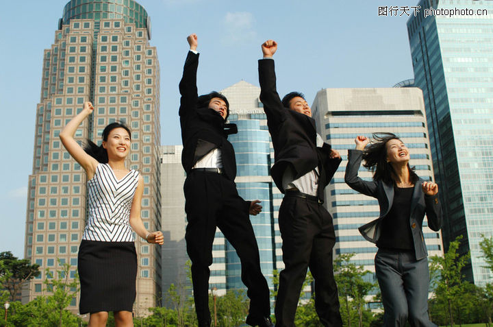 商业活力,商业情景,欢呼 胜利 跳跃 胜利 成功,商业活力0001
