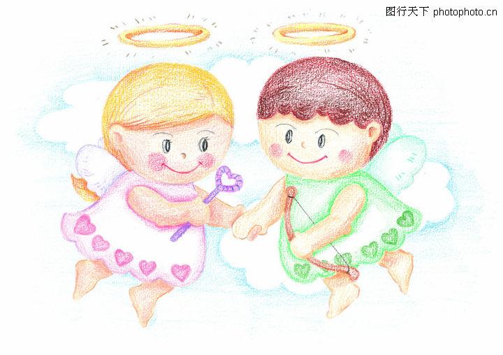 天使 儿童画