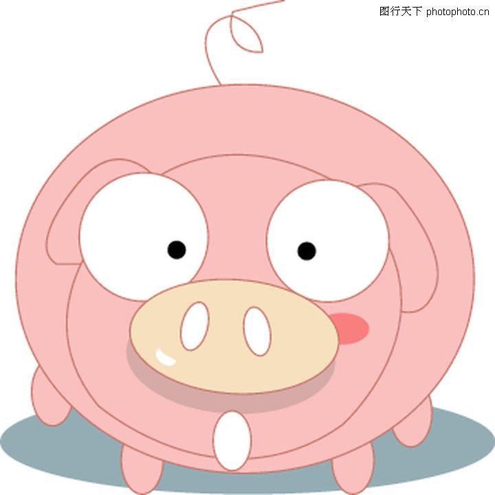 猪0062 猪图 时尚矢量插画图库