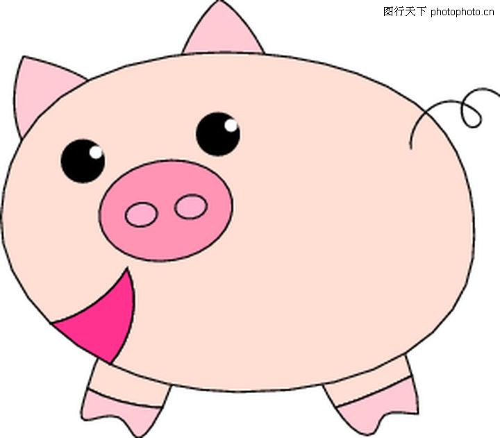 猪0047-猪图-时尚矢量插画图库