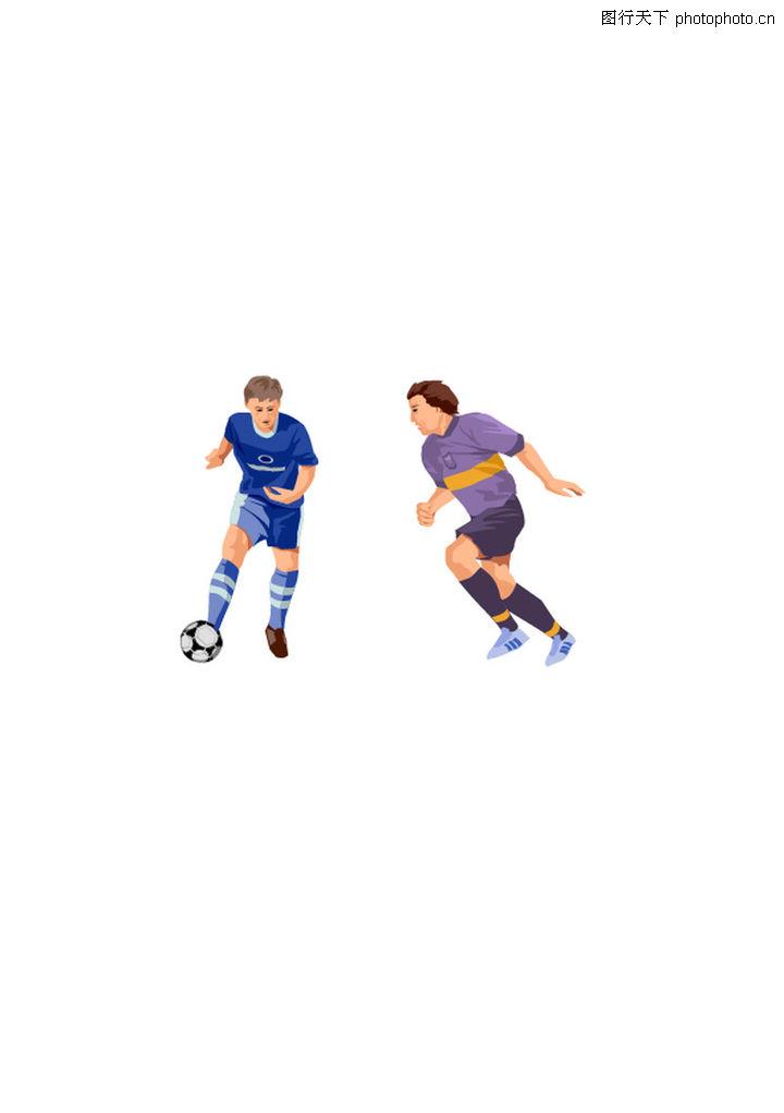综合体育,时尚矢量插画,漫画足球 男球员 跑动中,综合体育0178
