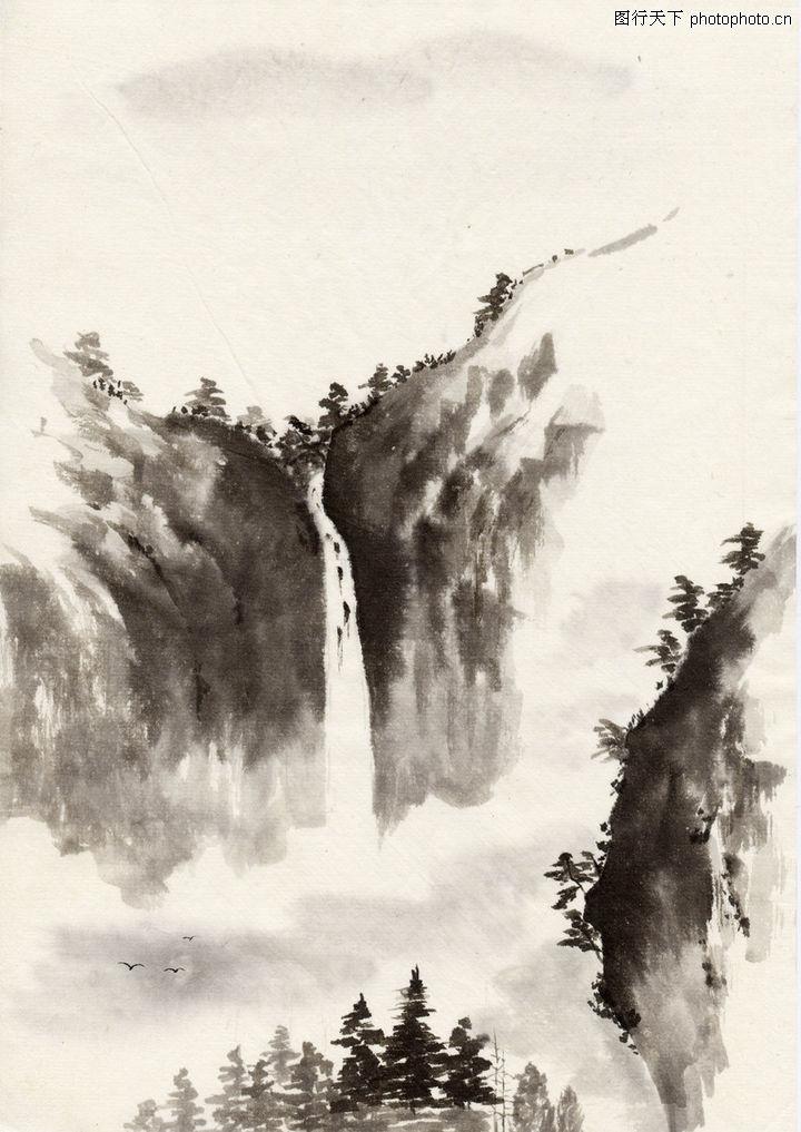 古代风景,民族文化,水墨画,古代风景0063