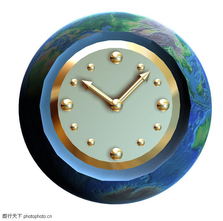 3d地球 概念图片 转动 时间 观念